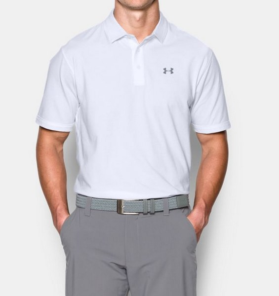 UNDER ARMOUR CHARGED COTTON SCRAMBLE POLO 1281003-100 férfi póló