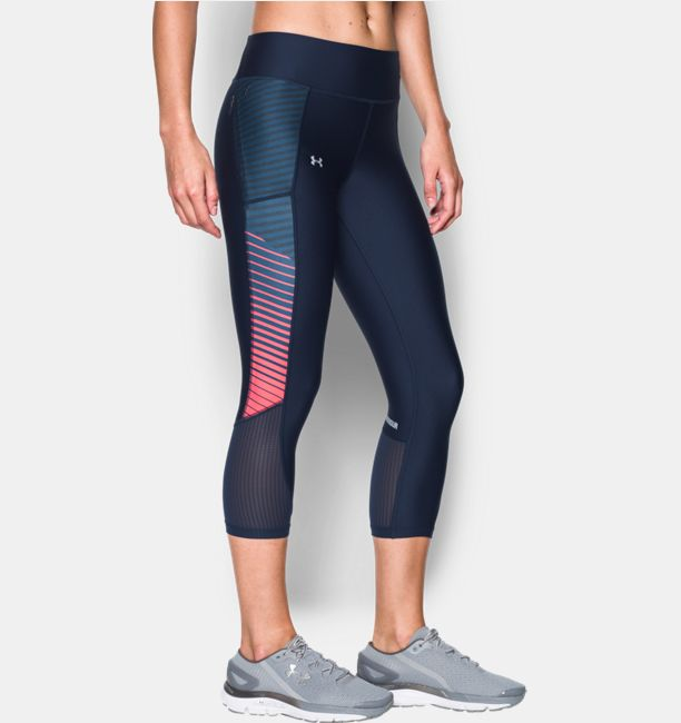 UNDER ARMOUR FLY BY PRINTED CAPRI 1297934-410 női 3/4-es nadrág