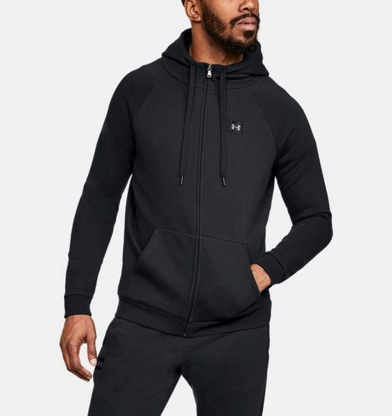 UNDER ARMOUR RIVAL FLEECE FZ HOODY 1320737-001 férfi zip pulóver