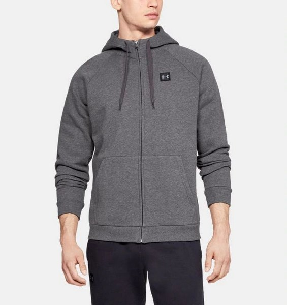 UNDER ARMOUR RIVAL FLEECE FZ HOODY 1320737-020 férfi zip pulóver