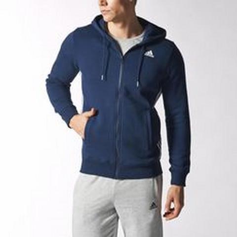 Adidas Ess Mid FZ Hood B Férfi Zip Pulóver S17978 Férfi Ruhazip pulover
