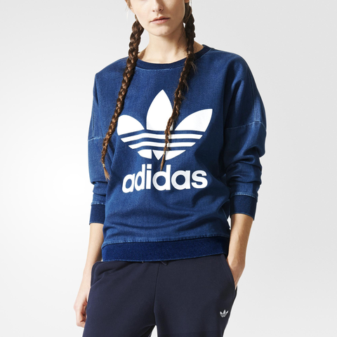 3f4319837f Adidas TR Denim Sweat Női Pulóver Aj7195 Női Ruha/pulover   Pulóver