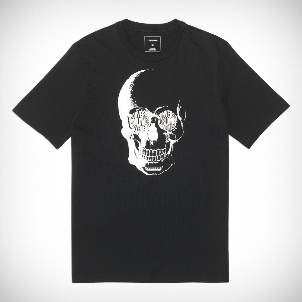 883f64d172 Converse Van DE Wall Skull Tee 10004721-A02-001 Férfi Póló | Póló