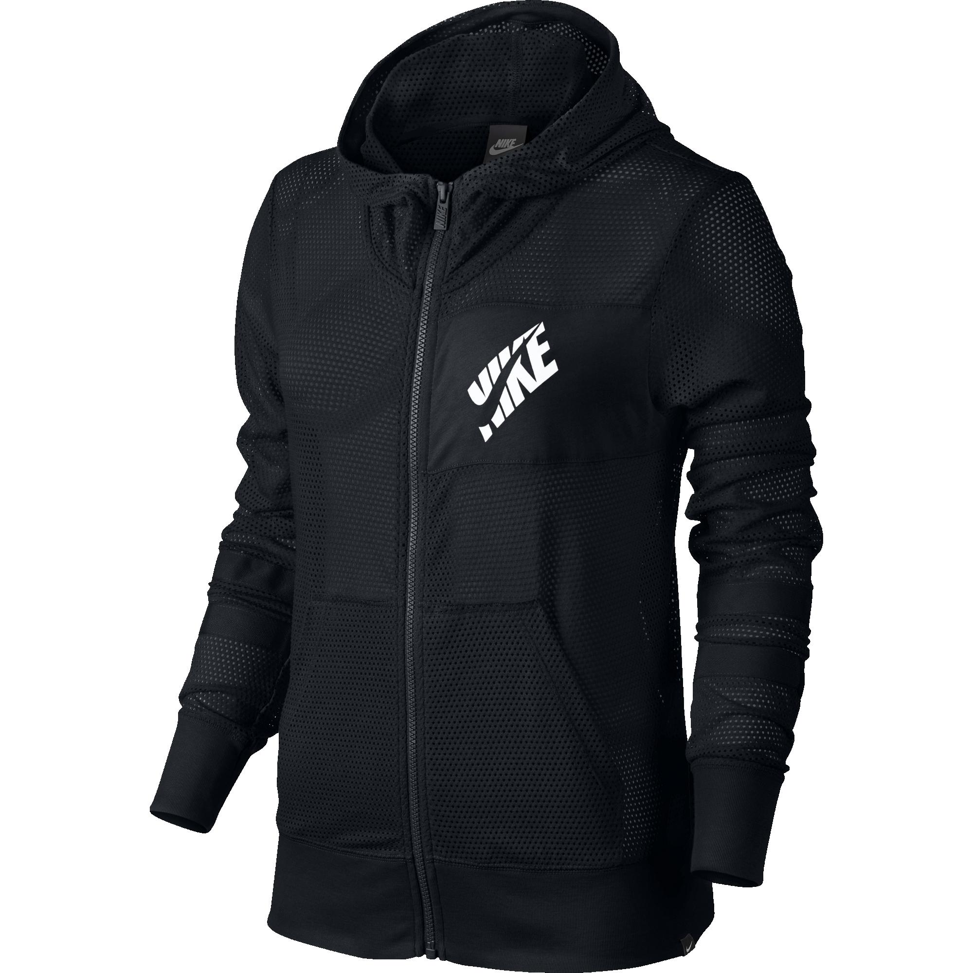 Nike Mesh Full-zip 726486-010 Női Zip Pulóver  bb224b7a16