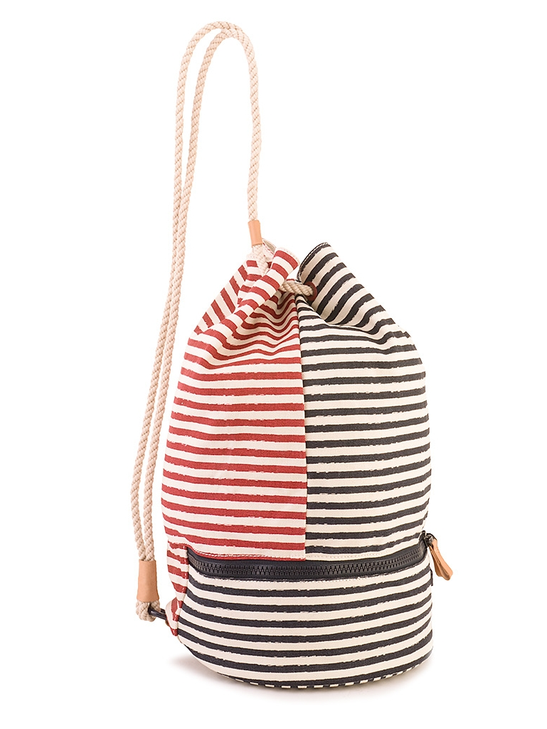 Tommy Hilfiger Beach Stripes Drawstring Bag Aw0aw015640910 Unisex